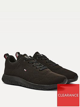 tommy-hilfiger-corporate-knit-rib-runner-trainers-black