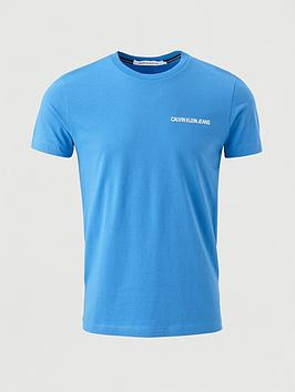 calvin-klein-jeans-institutional-chest-logo-t-shirt-blue