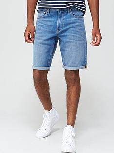 calvin-klein-jeans-regular-fit-denim-shorts-bright-blue