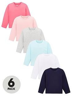 v-by-very-girls-6-pack-core-long-sleeved-t-shirts-multi