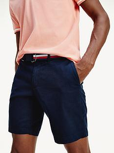 tommy-hilfiger-brooklyn-twill-shorts-with-belt-navy