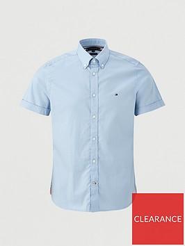 tommy-hilfiger-slim-fine-twill-short-sleeve-shirt-baby-blue