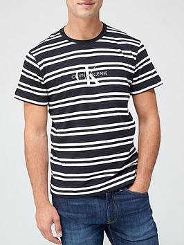 calvin-klein-jeans-striped-ck-center-logo-t-shirt-black