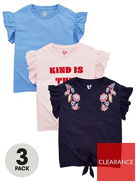v-by-very-girls-3-pack-kind-is-the-new-cool-t-shirts-multi