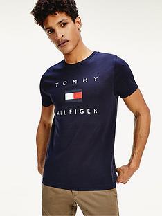 tommy-hilfiger-tommy-flag-hilfiger-t-shirt-navy