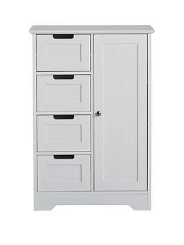 lloyd-pascal-portland-4-drawer-1-door-console-unit-white
