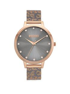 missguided-missguided-rose-gold-and-grey-leopard-printed-mesh-strap-with-grey-dial