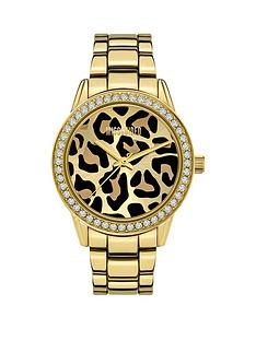 missguided-missguided-gold-bracelet-with-leopard-glitter-printed-dial