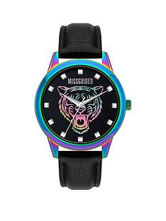 missguided-missguided-black-strap-with-iridescent-case-and-tiger-printed