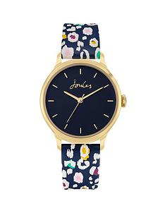joules-ladies-watch-with-blue-printed-pu-strap-and-blue-dial