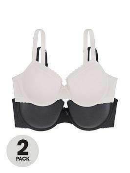 dorina-lila-2-pack-light-padded-demi-bras-ivory-grey