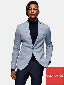 topman-skinny-fit-jersey-blazer-blue