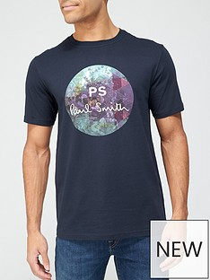 ps-paul-smith-circle-logo-print-t-shirt-dark-blue