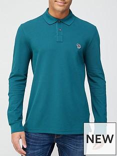 ps-paul-smith-zebra-logo-long-sleeve-pique-polo-shirt-teal