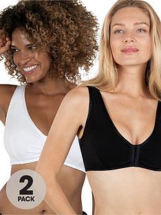 dorina-dorina-bennet-2-pack-post-surgey-bra-blackwhite