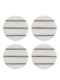 typhoon-elements-marble-and-brass-round-coasters