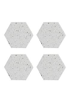 typhoon-elements-terrazzo-hexagonal-coasters-ndash-set-of-4