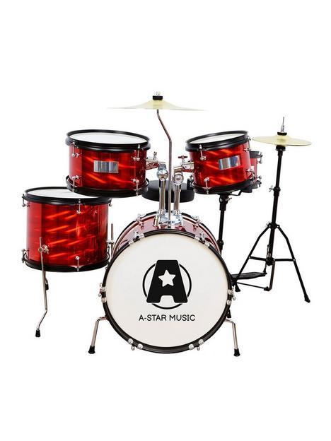 rocket-5-piece-junior-drum-kit-red