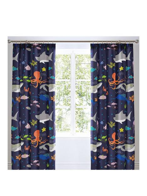 bedlam-sea-life-glow-in-the-dark-lined-pleated-curtains