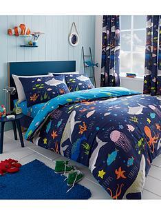 bedlam-sea-life-glow-in-the-dark-duvet-set-junior
