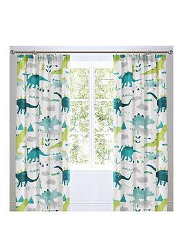 bedlam-dino-glow-in-the-dark-lined-pleated-curtains