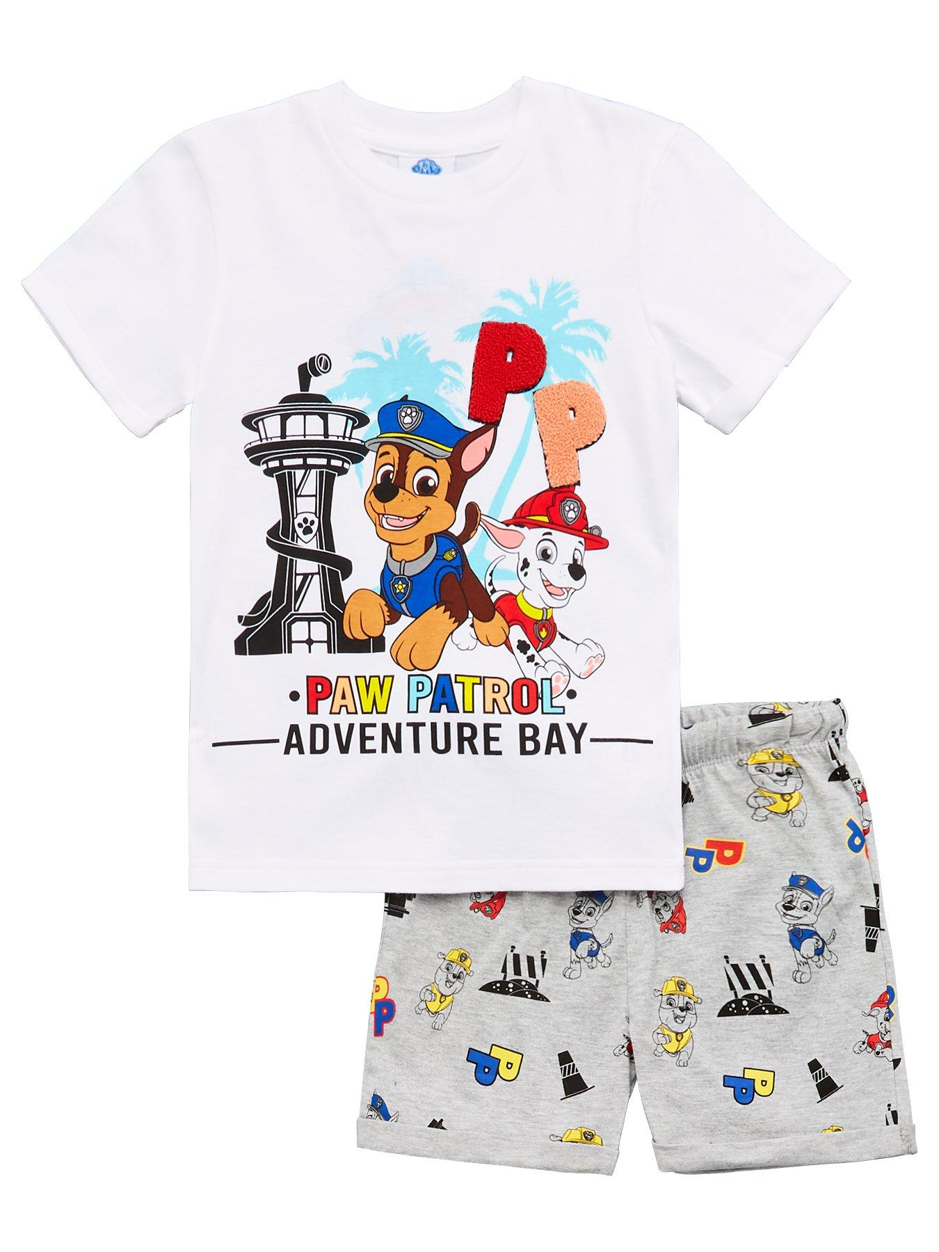 Boys Paw Patrol Ready for Action T-Shirt /& Camo Shorts Set Sizes from 12 Months to 6 Years