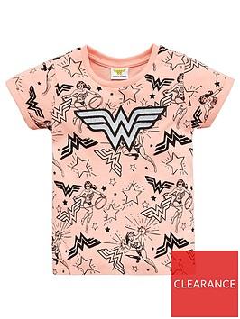 wonder-woman-girls-wonder-woman-glitter-print-t-shirt-pink