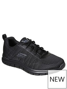 skechers-moulton-memory-foam-trainers-black