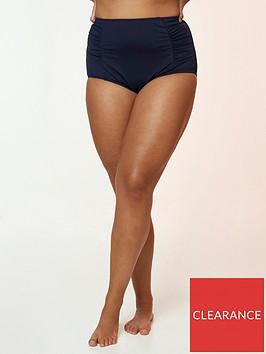 evans-high-waisted-bikini-briefs-navy