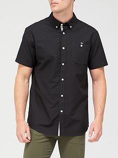 very-man-short-sleeved-oxford-shirt-black
