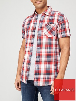 very-man-short-sleeve-flannel-shirt-redblue