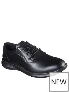skechers-darlow-lace-up-leather-shoes-black