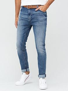 very-man-belted-slimnbspjeansnbspwith-stretch-mid-blue-wash