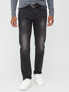 very-man-belted-straightnbspjeans-washed-black