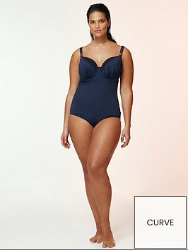 evans-wired-plunge-swimsuit-navy