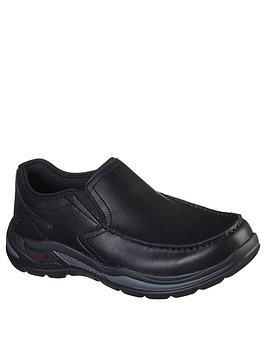 skechers-motley-leather-slip-on-shoes-black