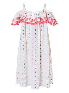 accessorize-girls-dobby-spot-bardot-pom-pom-dress-white