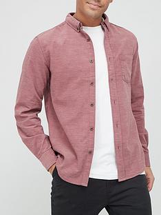 very-man-plain-marl-cord-shirt-red