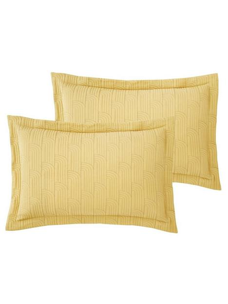 catherine-lansfield-embroidered-blossom-pillow-sham-pair-in-yellow