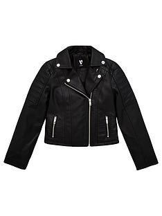 v-by-very-girls-pu-zip-detail-biker-jacket-black
