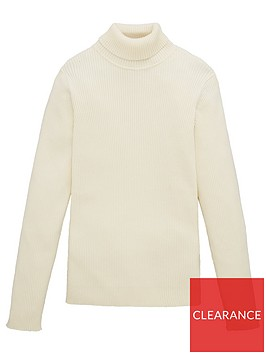 v-by-very-girls-rib-roll-neck-jumper-cream