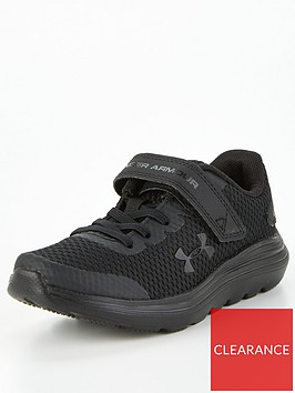 under-armour-surge-2-leather-childrens-trainers-black
