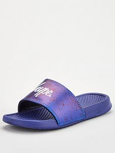hype-childrens-paint-splat-sliders-dark-blue
