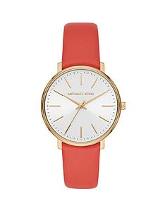 michael-kors-michael-kors-pyper-coral-leather-strap-white-mother-of-pearl-dial-ladies-watch