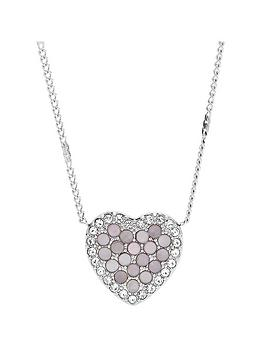 fossil-mother-of-pearl-and-silver-tone-heart-pendant-necklace