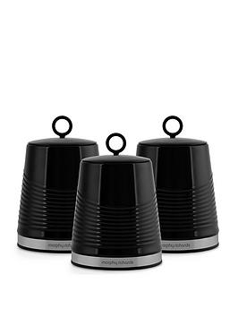 morphy-richards-dune-set-of-3-canisters-ndash-black