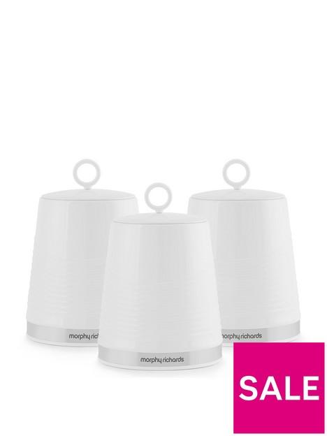 morphy-richards-dune-set-of-3-canisters-ndash-white