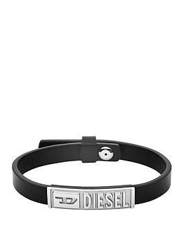 diesel-diesel-black-leather-and-stainless-steel-mens-bracelet