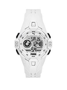 puma-puma-white-digital-dial-white-pu-strap-watch