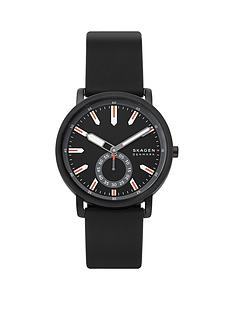 skagen-skagen-black-and-red-detail-dial-black-silicone-strap-mens-watch